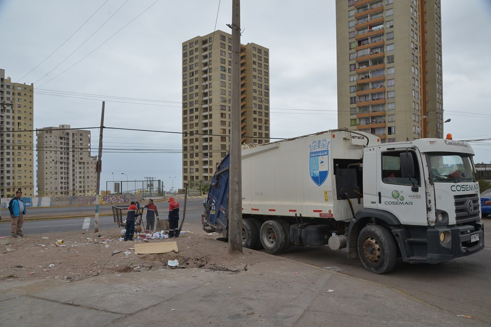 Extracción de basura en Iquique tendrá horario especial durante Fiestas Patrias
