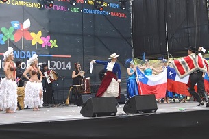 Impactante presentación de soprano aymara en inauguración de ExpoMundoRural 2014
