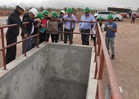 Verifican avance de trabajos de primera etapa de cierre de las lagunas de estabilización de El Boro